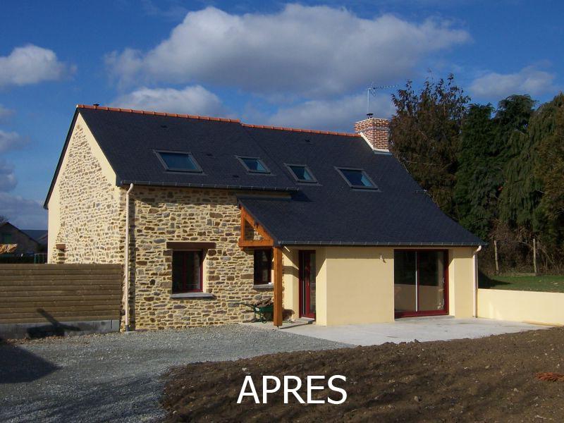 R novation et agrandissement d 39 une maison ess geb ch teaubourg - Renovation maison de campagne ...